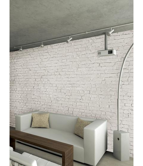 Loft Brick Effect Wall Mural - White 232 x 315 cm