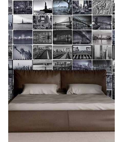 64 Piece Creative Collage New York Big Apple Designer Wall Mural