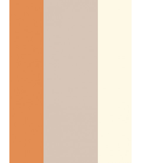 Stripe Wallpaper - Orange / Coffee / Cream - E40915