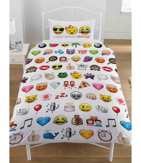 Emoji Multi Single Duvet and Pillowcase Set