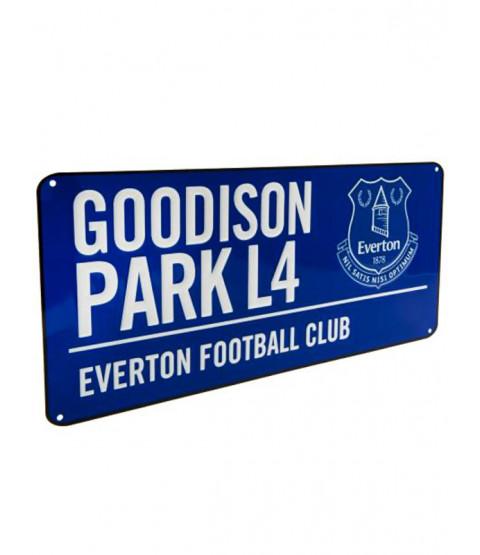 Everton FC Goodison Park Street Sign
