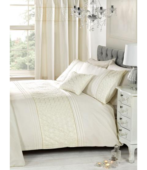 Everdean Floral Cream Double Duvet Cover and Pillowcase Set