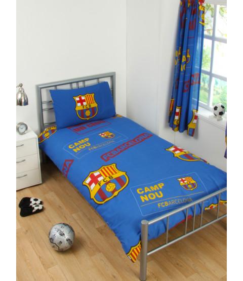 FC Barcelona Juego de funda de almohada y funda de almohada individual Patch