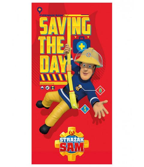 Fireman Sam Saving the Day Towel - Polish Design
