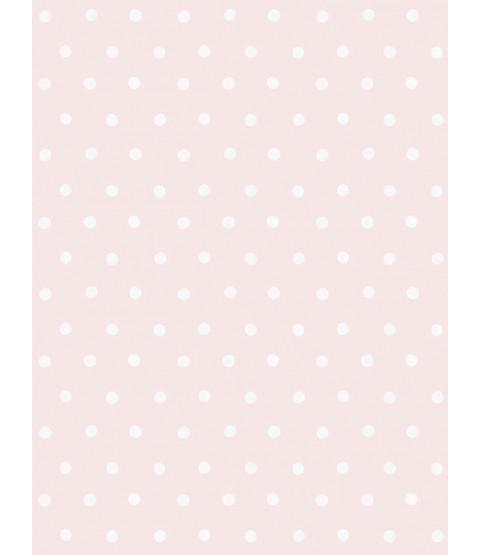 Little Ones Eco Polka Dots Wallpaper Pink GranDeco LO2602