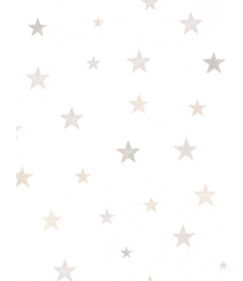 Papel Pintado Little Ones Eco Stars Gris GranDeco LO2701