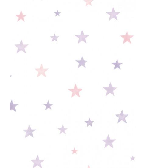 Papel Pintado Little Ones Eco Stars Rosa GranDeco LO2702