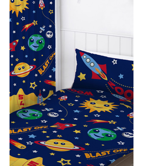 "Space Curtains 54"" Drop"