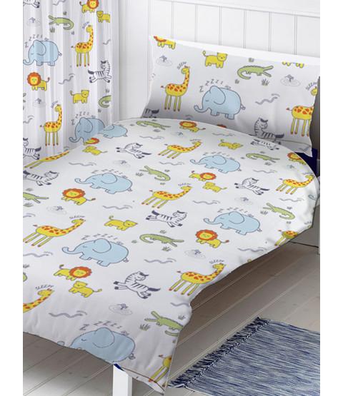 Safari Single Duvet Cover and Pillowcase Set