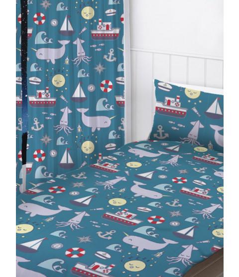"Nautical Sea Curtains 72"" Drop"
