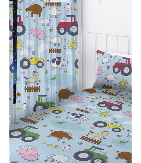"Farm Animals Curtains 66"" x 54"""
