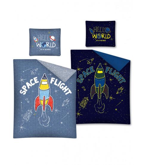 Space Flight Glow in Dark Cotton Duvet Set