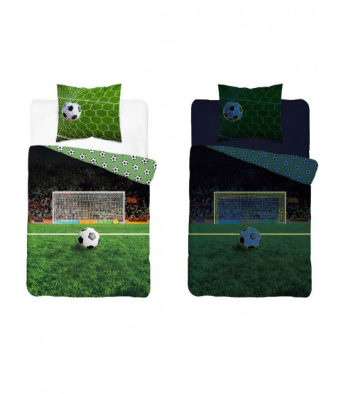 Housse de couette simple Football Glow in the Dark - Taille européenne