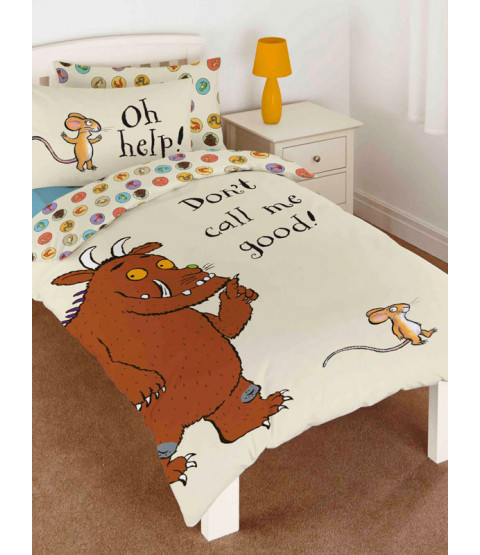 The Gruffalo Don't Call Me Good Single Cotton Duvet Cover Set