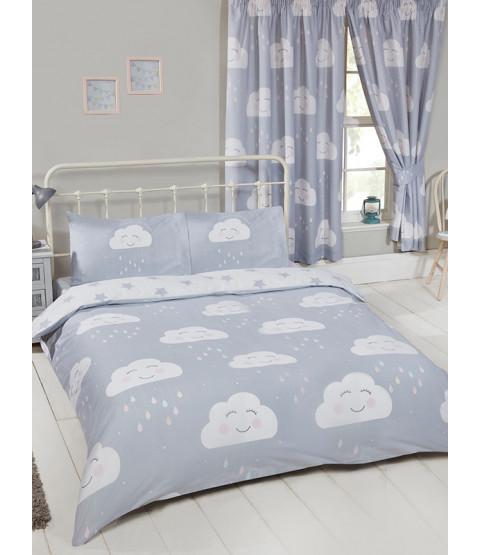 Happy Clouds Double Duvet Cover Set Bedroom