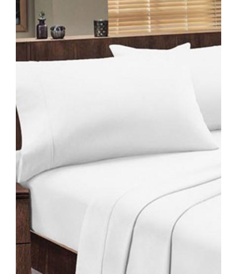 Dorchester 1000 TC 100% Cotton Flat Sheet - Double, White