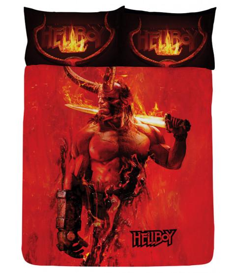 Set copripiumino e federa doppio Hellboy