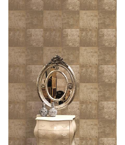 Metallic Metal Panel Wallpaper - Gold - 65163 Holden