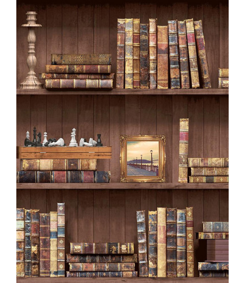Holden Bookcases Wallpaper - Brown 11950