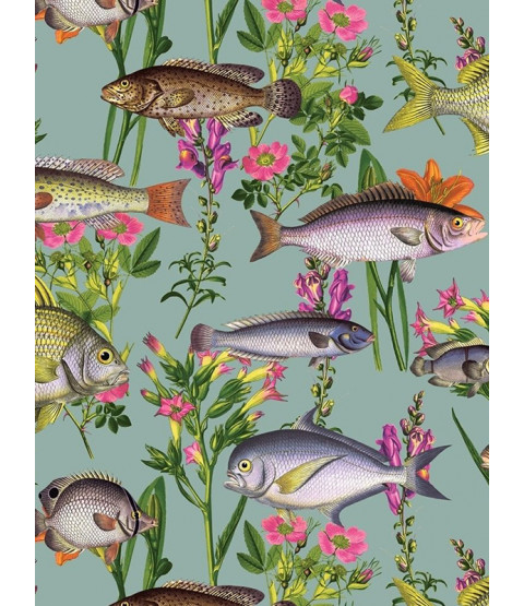Holden Lagoon Fish Wallpaper - Teal 12171