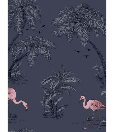 Holden Fondo de pantalla de Flamingo Lake - Midnight Blue 12382