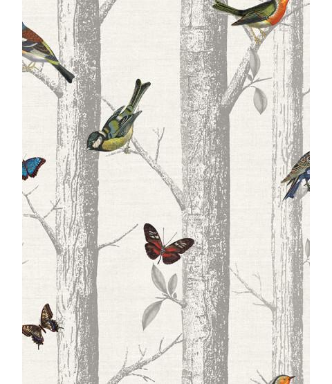 Holden Epping Birds on Branches Wallpaper - White 12231