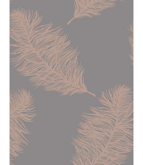 Papel pintado Fawning Feather Rose Gold / Grey Holden 12629