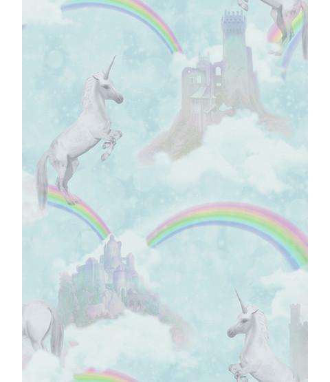 I Believe in Unicorns Wallpaper Teal Holden 12481