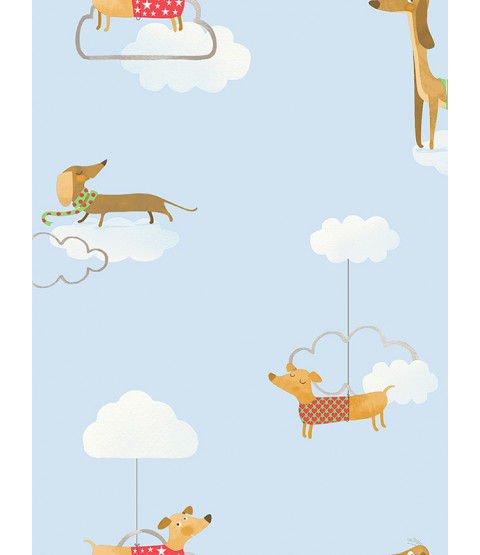 Walkies Sausage Dog Wallpaper Blue Holden 12550