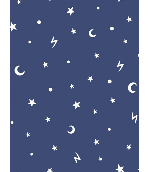 Over the Rainbow Stars and Moons Glow in the Dark Wallpaper Navy Holden 90982