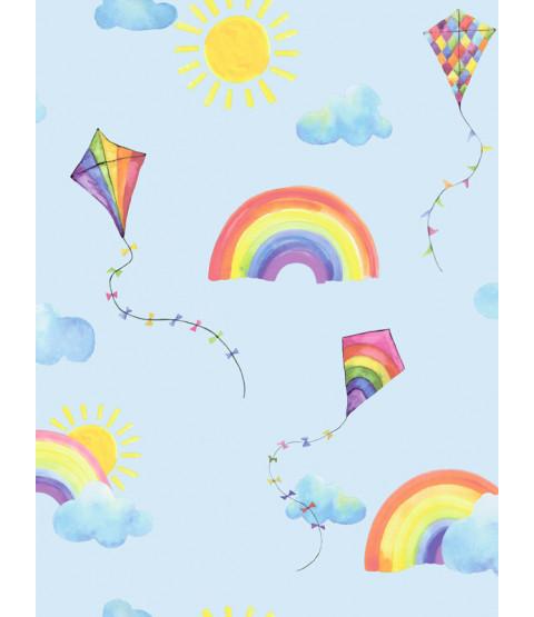 Papier peint Au-dessus de l'arc-en-ciel Flying Kites Blue / Multi Holden 91022