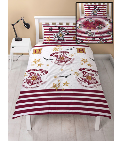 Harry Potter Muggles Single Rotary Duvet Cover and Pillowcase Set