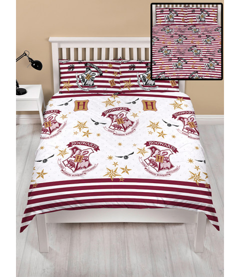 Harry Potter Muggles Double Rotary Duvet Cover and Pillowcase Set