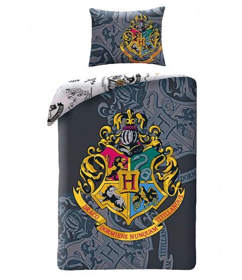 Harry Potter Crest Single Cotton Duvet Cover Set