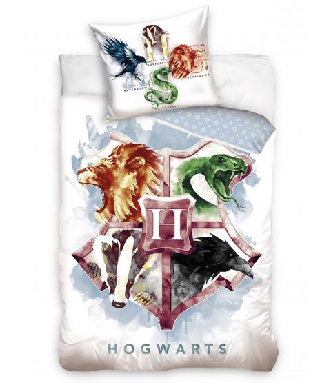 Harry Potter Hogwarts Crest Single Cotton Duvet Cover Set