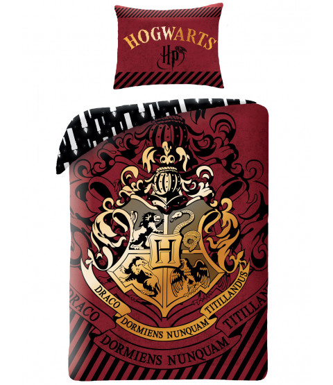 Harry Potter Hogwarts Crest Single Duvet Cover - European Size