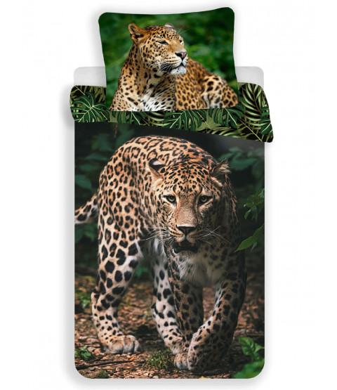 Ensemble housse de couette et taie d'oreiller léopard