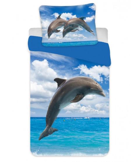 Dolphin Single Cotton Duvet Cover Set - European Size