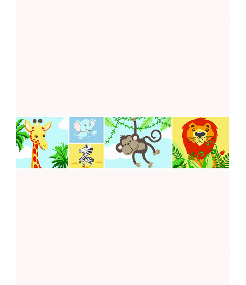 Price Right Home Jungle-Tastic Wallpaper Border - A129.AA