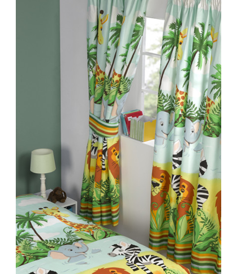 Jungle-Tastic Lined Curtains