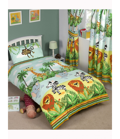 Jungle-Tastic Single Duvet Cover and Pillowcase Set