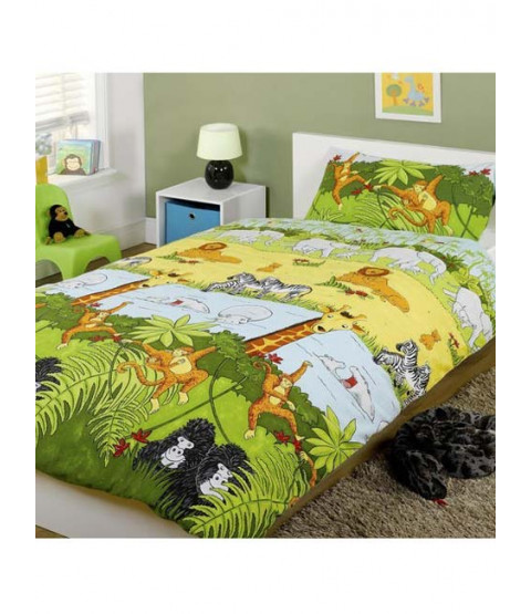 Jungle Animals Double Duvet Cover & Pillowcase Set
