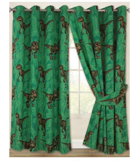 Jurassic Predators Dinosaur Eyelet Curtains