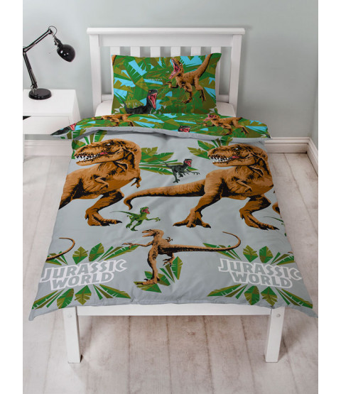 Jurassic World Jungle Single Duvet Cover and Pillowcase Set