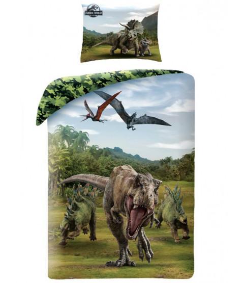 Jurassic World Green Single Duvet Cover Set - European Size