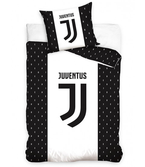 Juventus FC Letters Single Cotton Duvet Cover Set