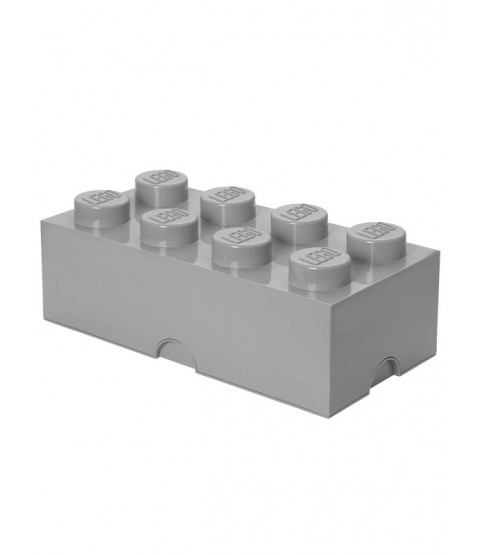Lego Storage Brick Box 8 - Stone Grey