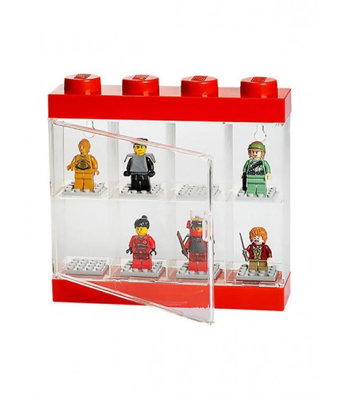 Petite vitrine pour figurines Lego - Rouge