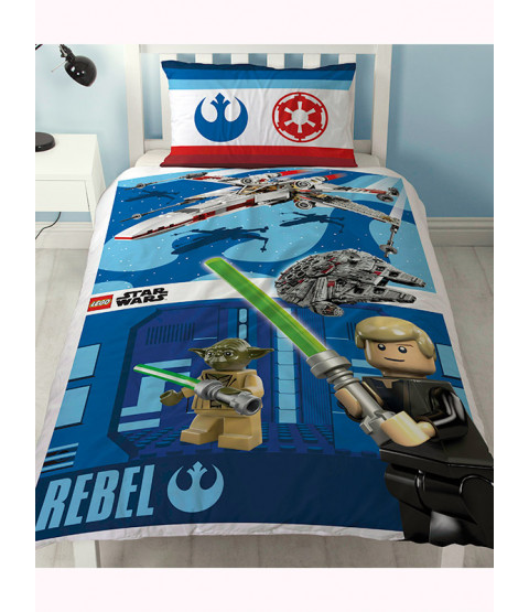 Lego Star Wars Battle Single Duvet Cover Luke Skywalker