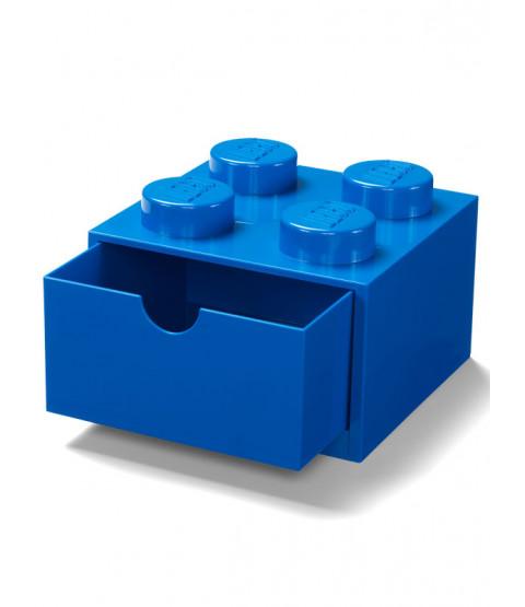 Lego Brick Storage Desk Drawer 4 - Blue